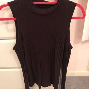 American Eagle Cold Shoulder Ribbed Sweater